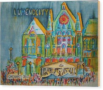 Lumenocity  Wood Print