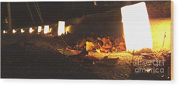 Wood Print featuring the photograph Luminaries by Andrea Anderegg