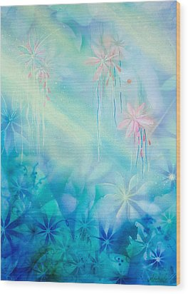 Luminous Garden Wood Print by Michelle Wiarda