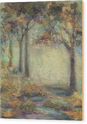Wood Print featuring the painting Luminous Landscape by Mary Wolf