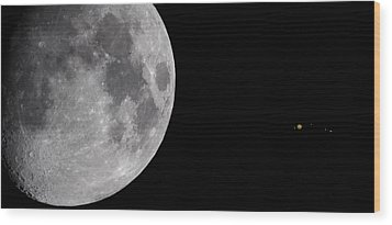 Wood Print featuring the photograph Luna And Jupiter by Jason Politte