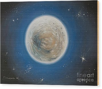 Luna Wood Print by Katharina Filus