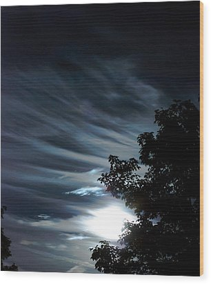 Lunar Art Wood Print by Optical Playground By MP Ray