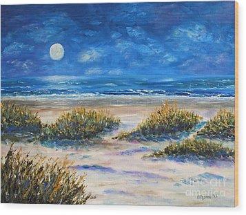 Lunar Beach Wood Print