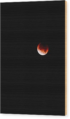 Lunar Eclipse One Wood Print by Joel Loftus