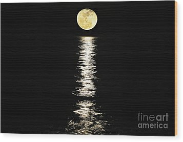 Lunar Lane Wood Print by Al Powell Photography USA