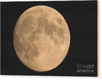 Lunar Mood Wood Print by Mary Mikawoz
