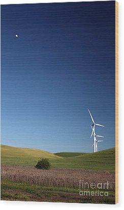 Lunar Winds Wood Print by Juan Romagosa