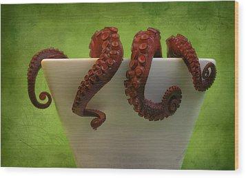 Lunch Wood Print by Karen Walzer