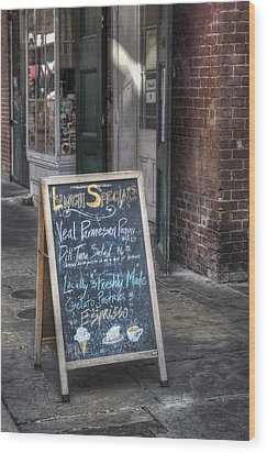 Lunch Specials Wood Print by Brenda Bryant