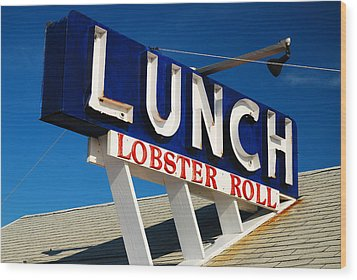 Lunch Time Wood Print by James Kirkikis