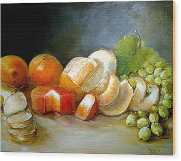 Wood Print featuring the painting Luncheon Delight - Still Life by Bernadette Krupa