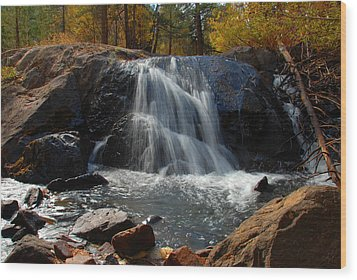 Lundy Creek Cascades Wood Print by Lynn Bauer