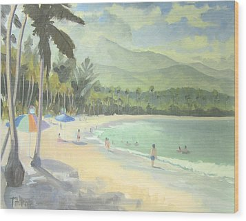 Luquillo Beach Wood Print by Marcus Thorne