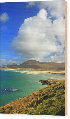 Luskentyre Beach  Wood Print by The Creative Minds Art and Photography