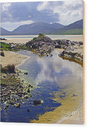 Wood Print featuring the photograph Luskentyre Dream by Jacqi Elmslie