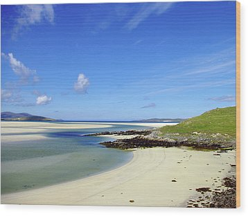 Wood Print featuring the photograph Luskentyre Paradise by Jacqi Elmslie