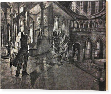 Lust In The Temple Wood Print by George Harrison