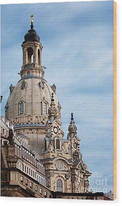 Lutheran Church In Dresden Wood Print by Jelena Jovanovic