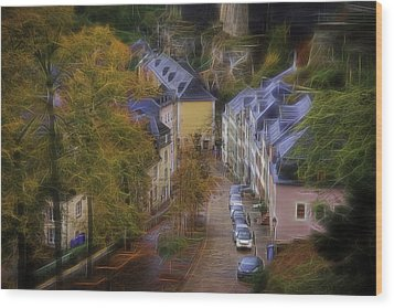 Wood Print featuring the photograph Luxembourg - Grund by Maciej Markiewicz