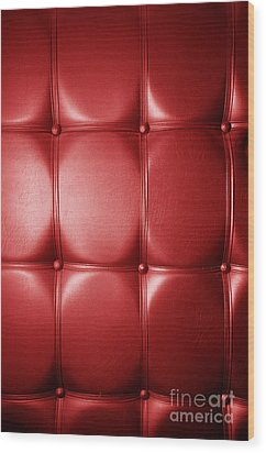 Luxury Genuine Leather. Red Color Wood Print by Michal Bednarek