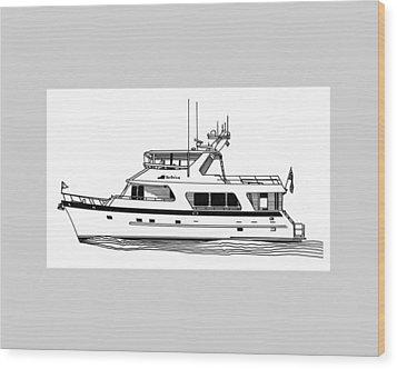 Luxury Motoryacht Wood Print by Jack Pumphrey