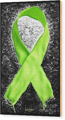 Lyme Disease Awareness Ribbon Wood Print by Luke Moore