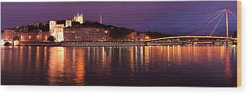 Wood Print featuring the photograph Lyon At Dusk by Phyllis Peterson