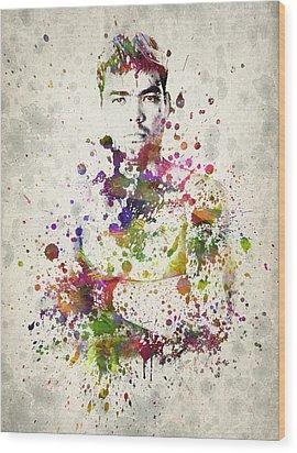 Lyoto Machida Wood Print by Aged Pixel