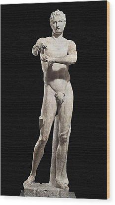 Lysippus C. 370-318 Bc. Apoxyomenos Wood Print by Everett
