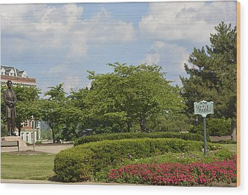 Lytle Park Cincinnati Wood Print by Kathy Barney