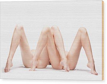 M Wood Print by Dario Infini