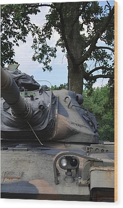 Wood Print featuring the photograph M60a3 Us Tank 03 by Ramona Whiteaker