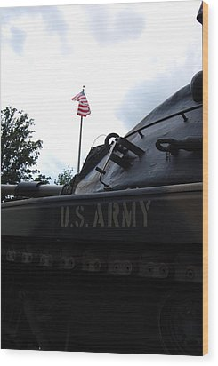 Wood Print featuring the photograph M60a3 Us Tank 05 by Ramona Whiteaker