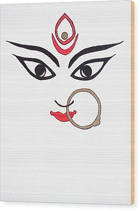 Maa Kali Wood Print by Kruti Shah