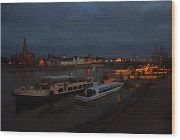 Maastricht Nine Days Before Christmas Wood Print by Nop Briex