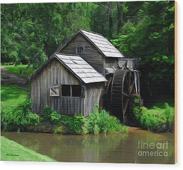 Mabry Mill 4 Wood Print by Mel Steinhauer