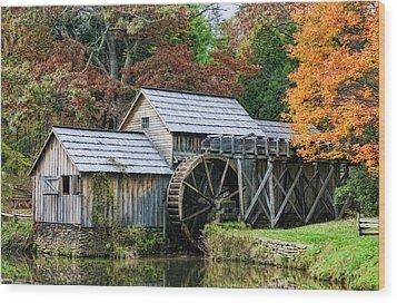 Mabry Mill II Wood Print by Joan Bertucci