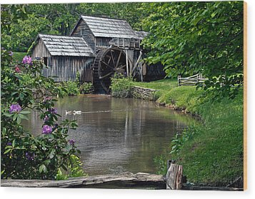 Wood Print featuring the photograph Mabry Mill In May by John Haldane