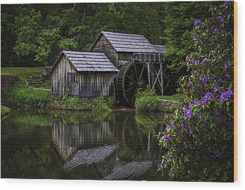 Mabry Mill In Spring Wood Print