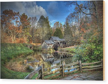 Mabry Mill Wood Print by Jaki Miller