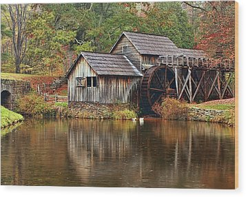 Mabry Mill Wood Print by Marcia Colelli