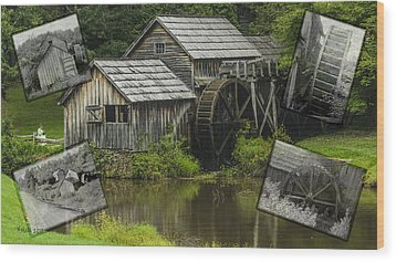 mabry Mill old and new Wood Print