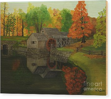 Mabry Mill Wood Print by Timothy Smith