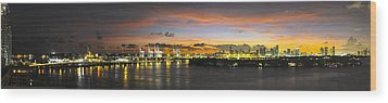 Wood Print featuring the photograph Macarthur Causeway Bridge by Gary Dean Mercer Clark