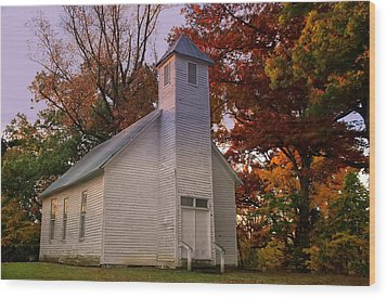 Macedonia Missionary Baptist Church Wood Print by Chris Flees