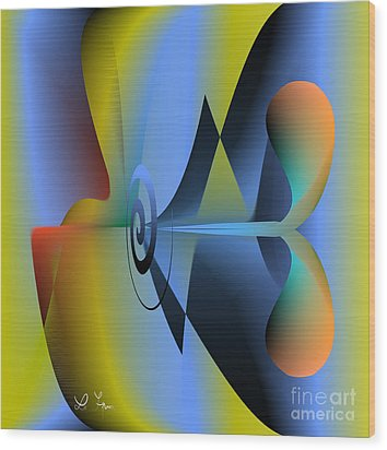 Machine For Happiness Wood Print by Leo Symon
