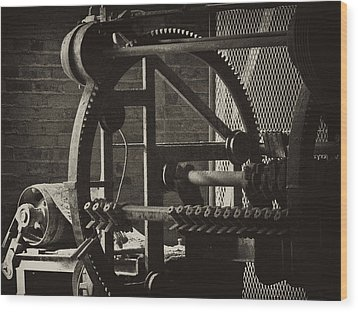 Machines Wood Print by Ann Tracy