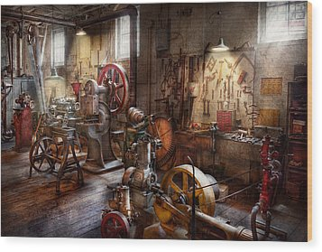Machinist - A Room Full Of Memories  Wood Print by Mike Savad