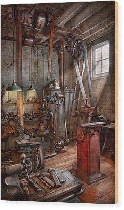 Machinist - The Modern Workshop  Wood Print by Mike Savad